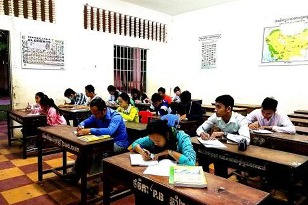 Cambodia Angkor High School Chinese Class
