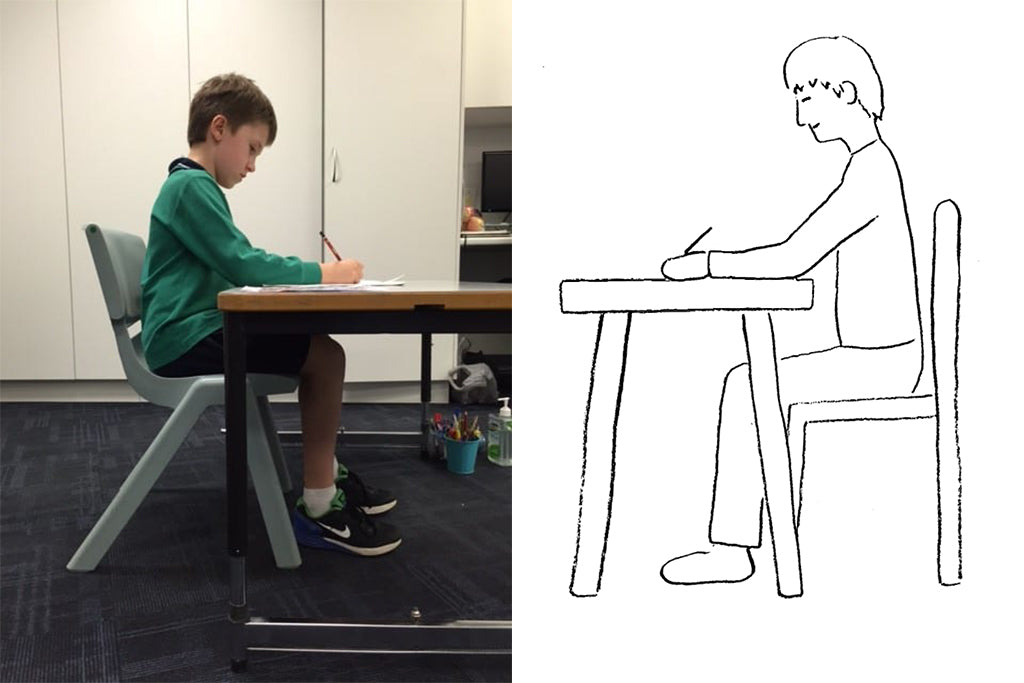 the posture of child and adult