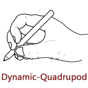 dynamic quadrupod pencil grasp