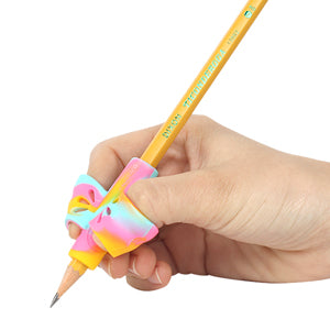 butterfly pen gripper with 3 finger holes