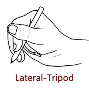 lateral tripod grip