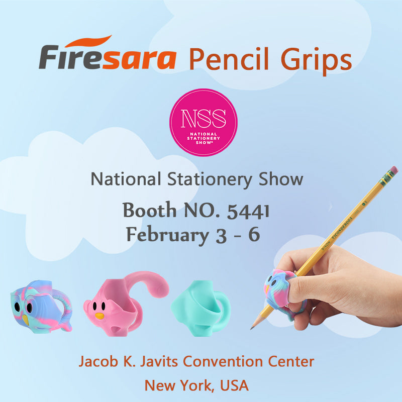 firesara pencil grips national stationery show