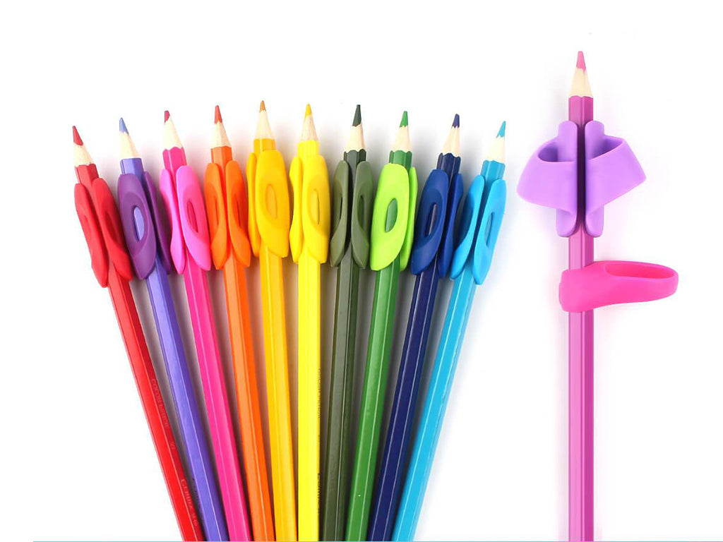 Rainbow Pencils Grips for Training Preschool Kids