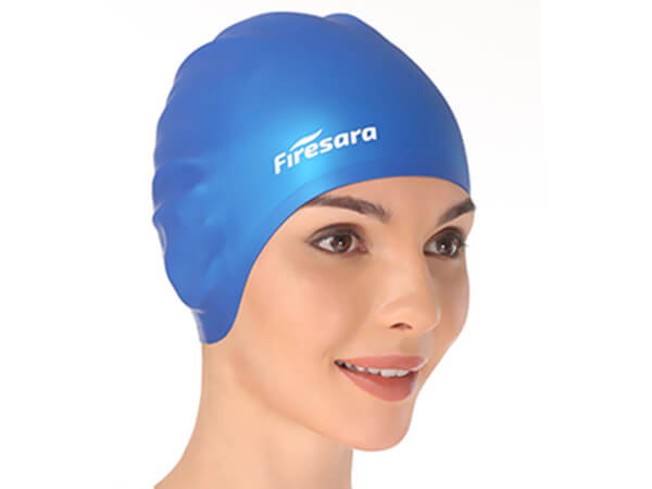 woman wearing swimming cap