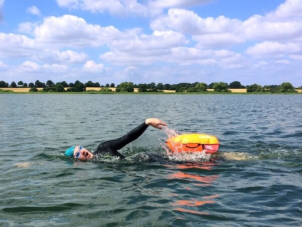 swimming in open water