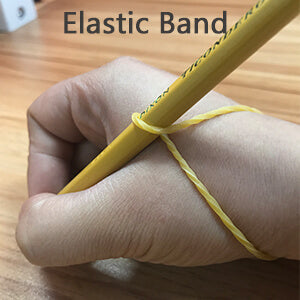 rubber band for teaching kid hold pencil right