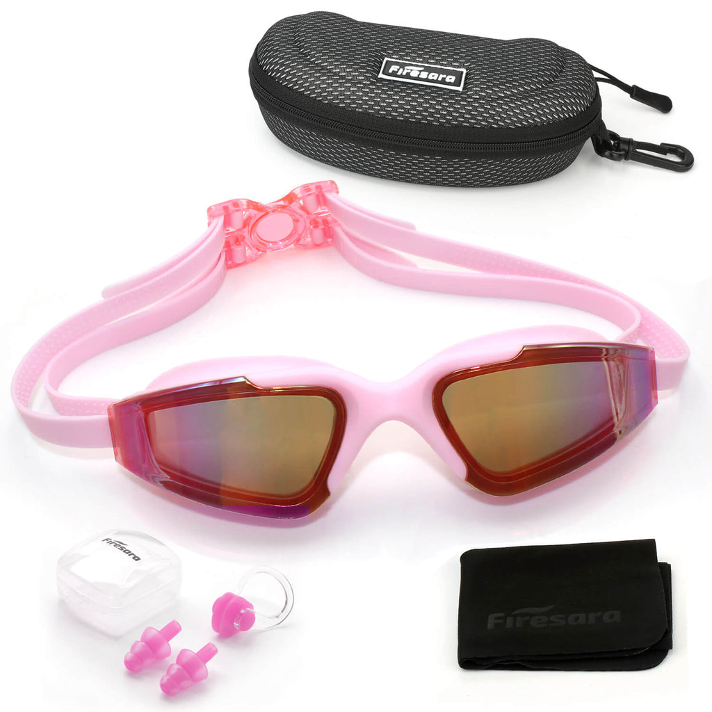 firesara pink goggles and accessories that come with it