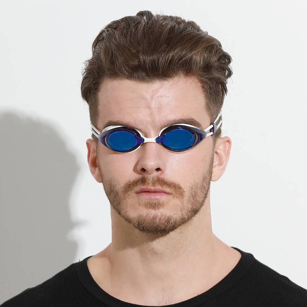 man wearing firesara anti fog water goggles