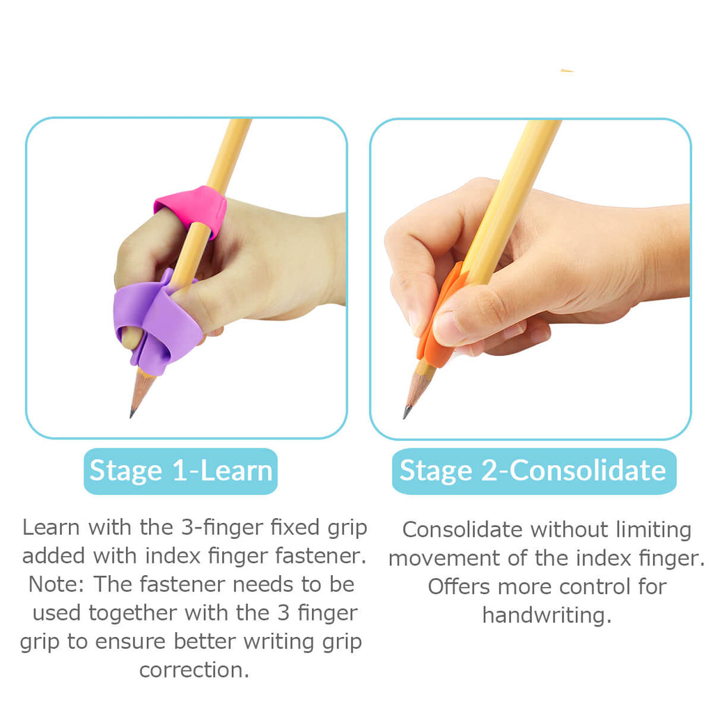 training handwriting grips for pencils rainbow