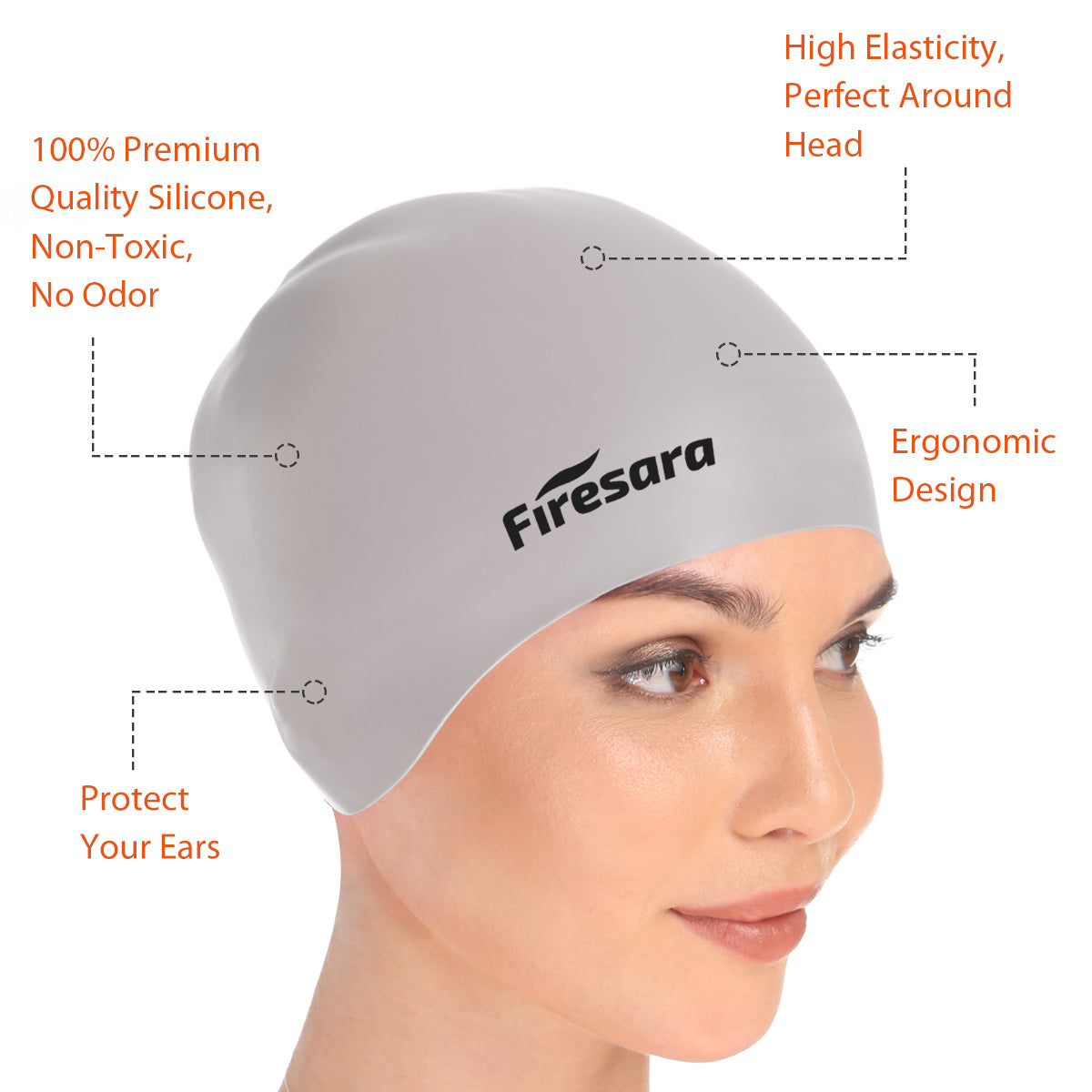 4327a41cf81 Swim Caps to Keep Hair Dry Reversible | Best Buy Online | Silicone ...
