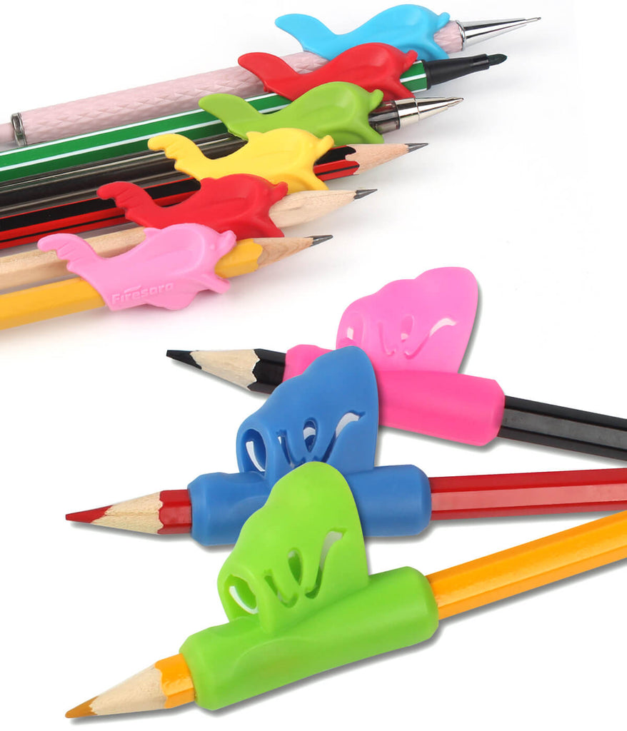 9 pencil holder grip for kids on pencils