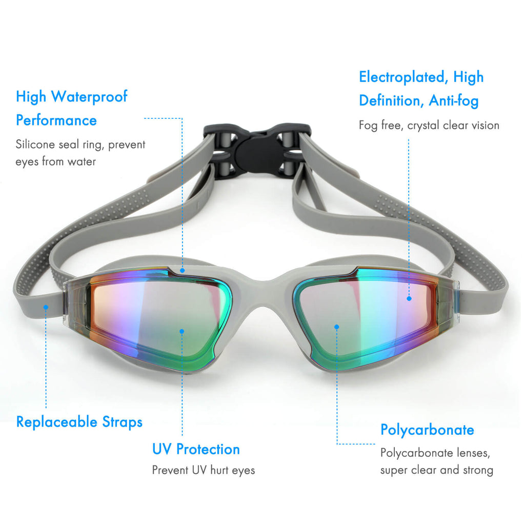 5 features of firesara women swimming goggles grey
