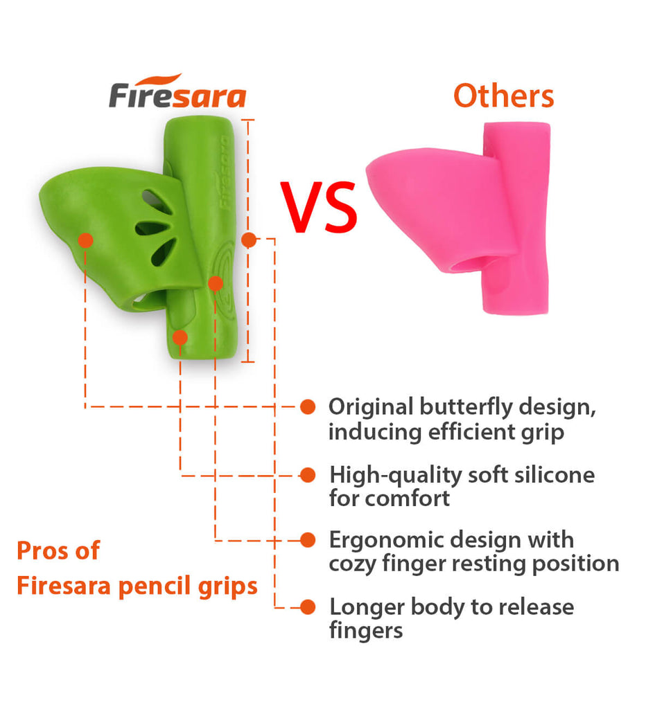 firesara butterfly pencil training grip vs others