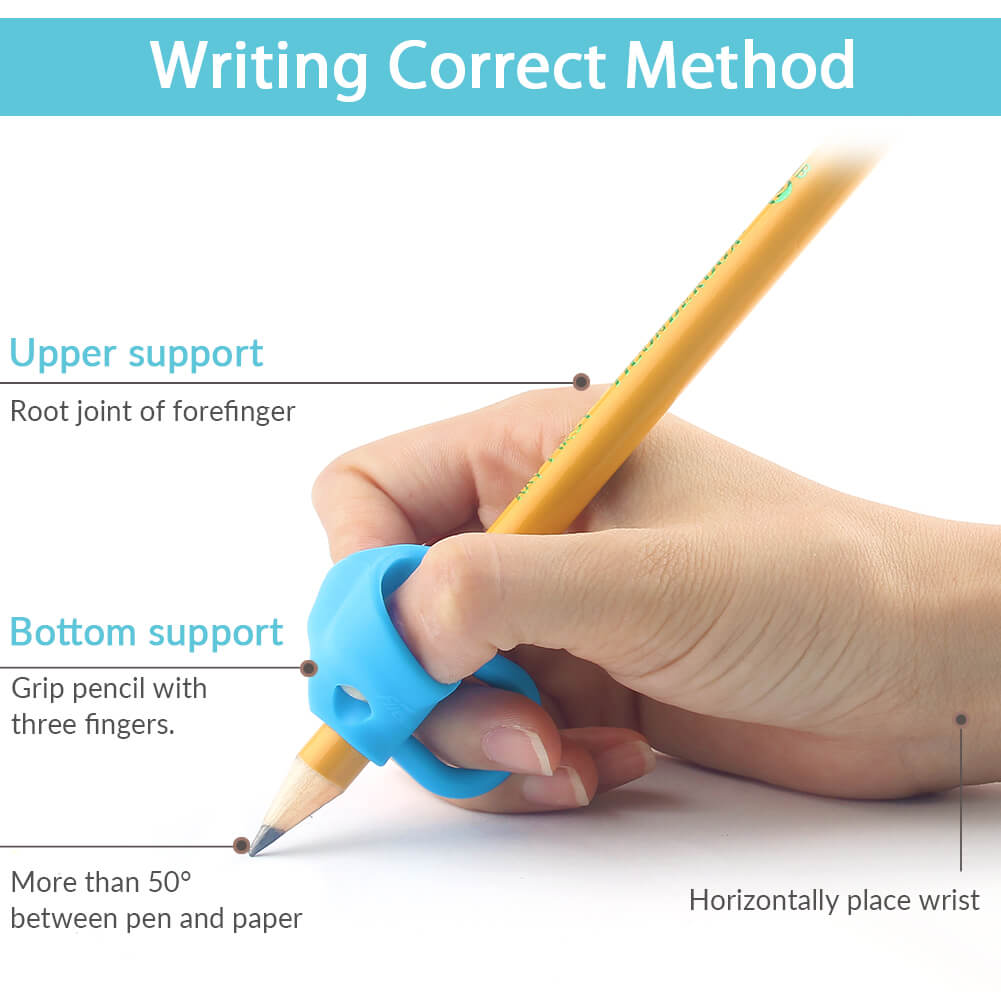 correct writing posture guided by firesara new elephant grips