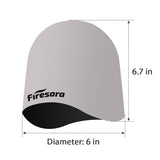 diameter and height of grey black swim cap
