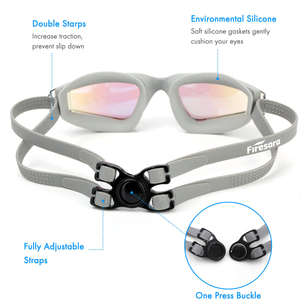 adjustable feature of goggle straps grey