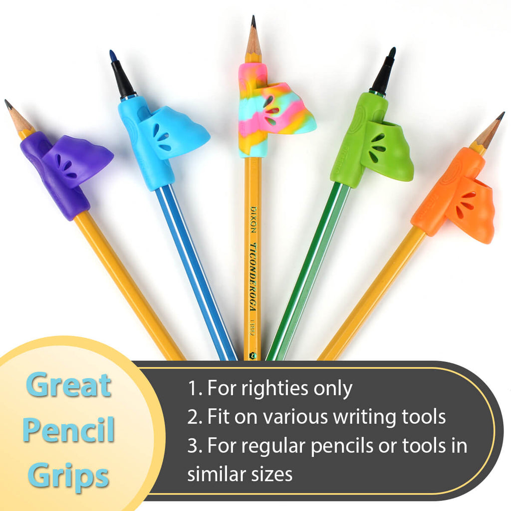 usage of pencil grip with finger holes