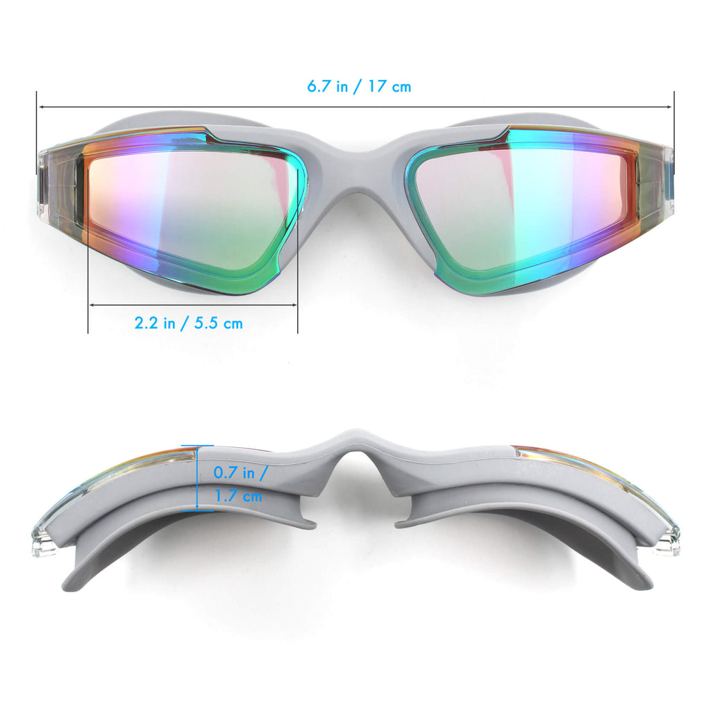dimensions of female goggles grey