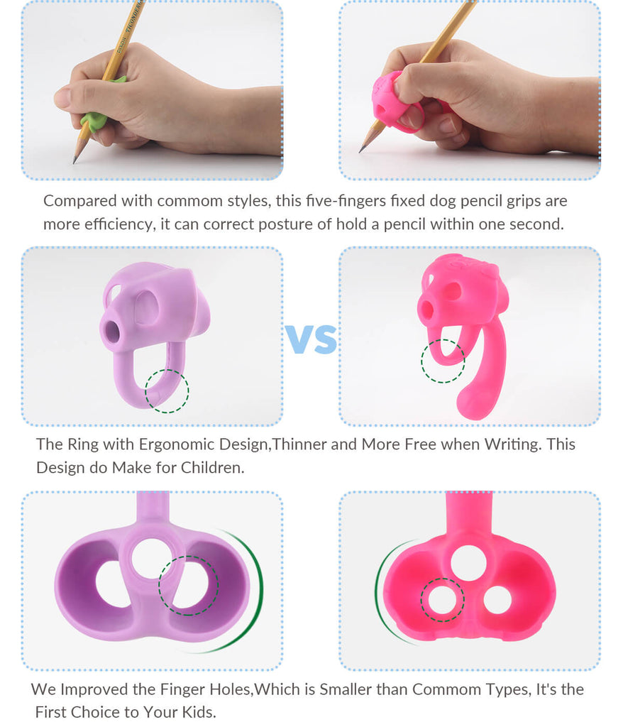 comparison between elephant gripper and puppy