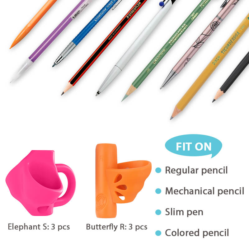 what writing tools the firesara elephant butfly grips are good for