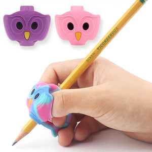 3 owl girl correct pen grips in 3 different colors