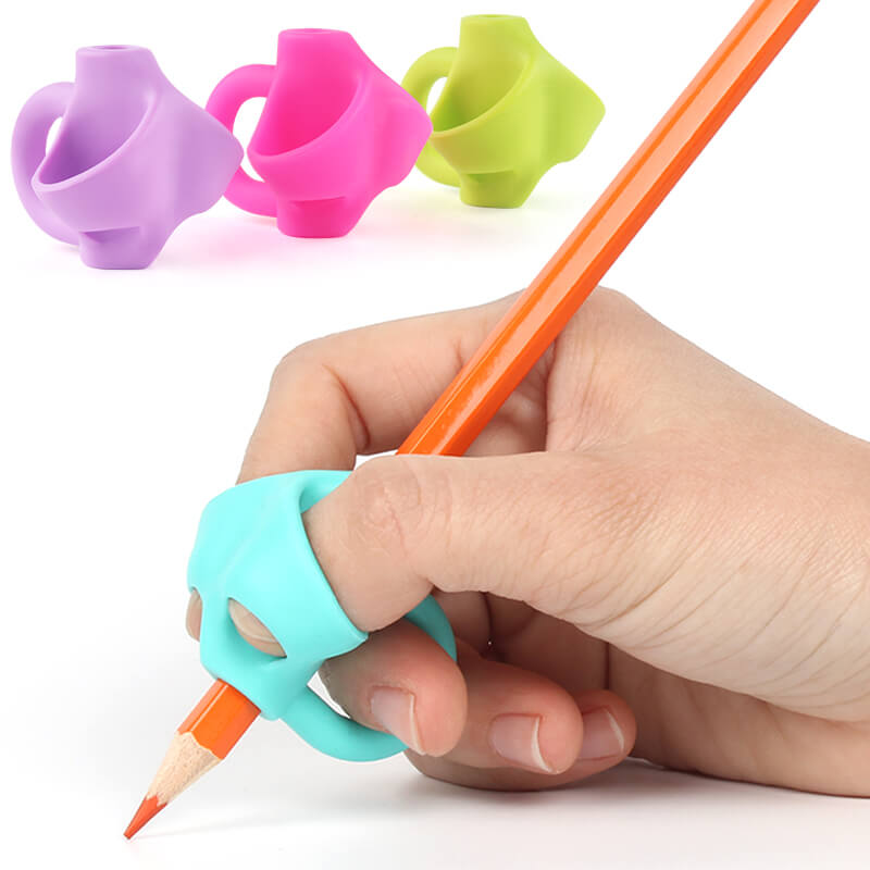 crossover elephant pencil grippers for handwriting 4 colors