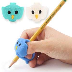 3 owl grippy pencil grips boy firesara