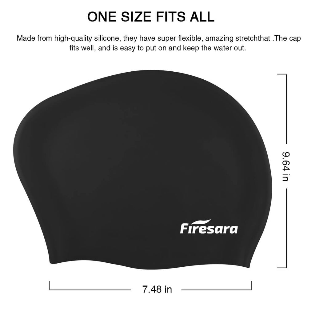 size_fashionable_swim_cap_firesara_black