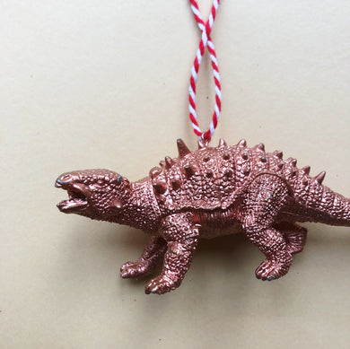 Talarurus Dinosaur Bauble in Copper