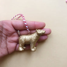 Load image into Gallery viewer, Polar Bear Bauble in Gold