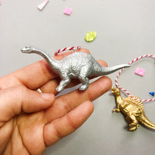 Load image into Gallery viewer, Brachiosaurus & Spinosaurus Mini Set in Gold and Silver