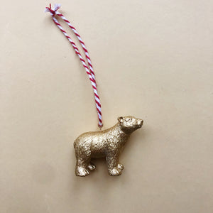 Polar Bear Bauble in Gold
