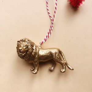 Lion Bauble in Gold