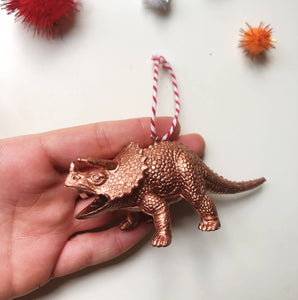 Styracosaurus Dinosaur Bauble in Copper