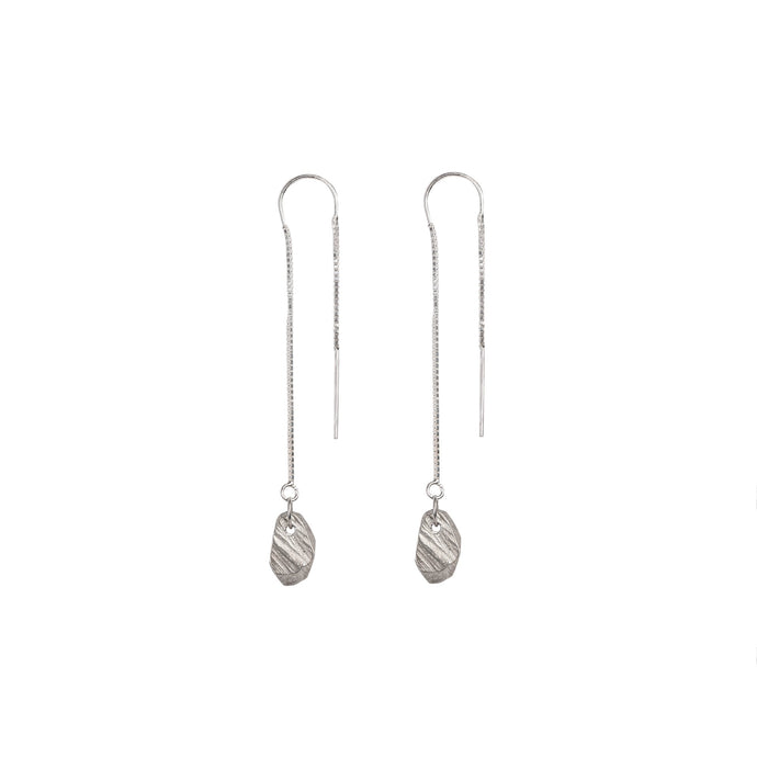 Chikahisa Studio Silver Stone Threader Earrings
