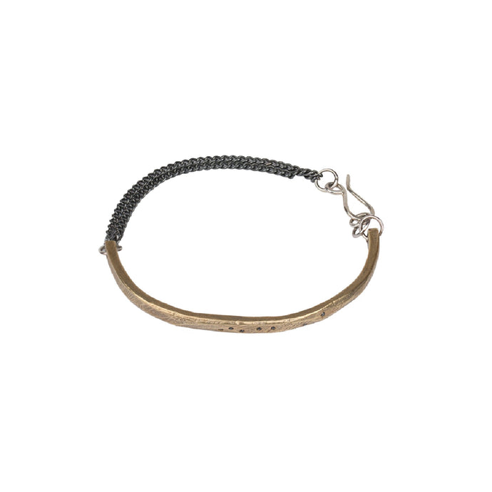 Chikahisa Studio Bronze Skipping Stones Simple Bracelet