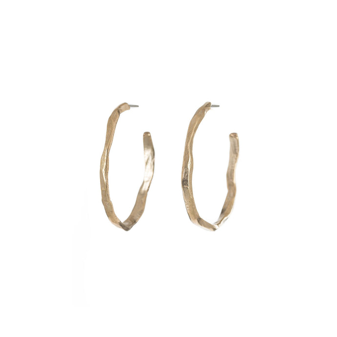 Chikahisa Studio Bronze Stonehenge Hoop Earrings