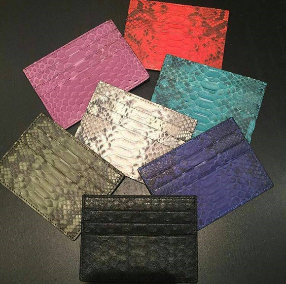 Genuine Python Skin Card Holder RFID Blocking - Eldadesign