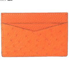 Genuine ostrich skin business card holders customized - Eldadesign
