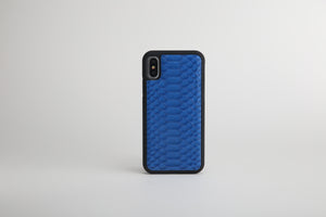 Luxury Blue Python Leather iPhone case - Eldadesign, for iphone 12, elda