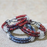 Python Leather Double Band Bracelet - Eldadesign