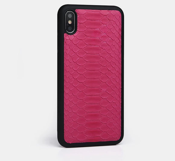 Pink python Skin case for all iphone models inc 11 /Pro
