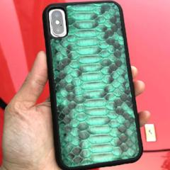 Premium Python Leather Case for iPhone Green - Eldadesign