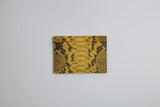 Genuine Python Leather RFID Blocking Holder Black or Yellow Middle pattern - Eldadesign, yellow, elda