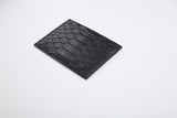 Genuine Python Leather RFID Blocking Holder Black or Yellow Middle pattern - Eldadesign