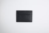 Genuine Python Skin Leather Card Holder in Black or Yellow Side pattern - Eldadesign