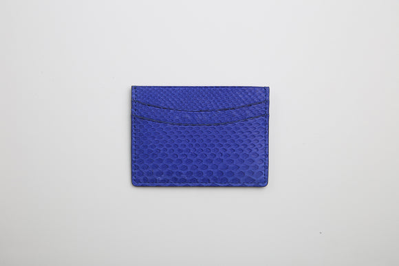 Luxury Python skin Card Holder Gold or Electric Blue - Eldadesign, Blue, elda