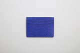 Luxury Python skin Card Holder Gold or Electric Blue - Eldadesign