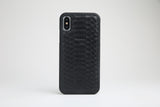 Luxury Genuine Python Skin iPhone case Black - Eldadesign, , elda