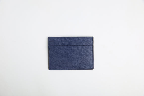 luxury italian vegetable tanned leather card holder - Eldadesign, navy, elda
